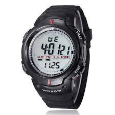 "New Waterproof Mens Boy""s Digital LED Quartz Alarm Date Sports Wrist Watch"