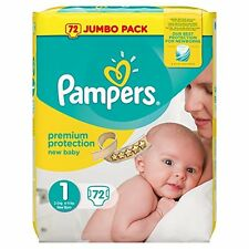 Pampers NEW BABY COUCHES TAILLE 1 (total de 72 couches) nouveau