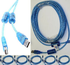 Lot5 20ft long USB2.0 A Male~Female Extension Camera/Webcam/Printer Cable$S{BLUE