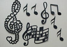 54 ASSORTED MUSIC NOTES FOR  CHRISTMAS DIE CUTS CLEFS QUAVERS ETC job lot