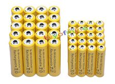 20 AA +20 AAA 1.2V 1800mAh 3000mAh NiMH Yellow Rechargeable Battery Cell