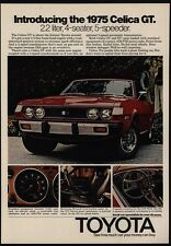 1975 TOYOTA Red CELICA GT 2.2 Liter Sports Car VINTAGE AD