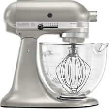 KitchenAid Artisan Series 5-Quart Stand Mixer with Glass Bowl - Pearl Silver