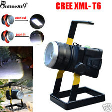 30W 2400LM Cree LED Rechargeable ZOOMABLE Floodlight Portable Garden Spot Lamp