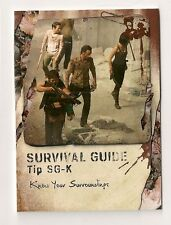 2016 TOPPS THE WALKING DEAD SURVIVAL BOX SURVIVAL GUIDE #SG-K RICK DARYL #10/25
