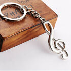 1PC Creative Fashion Music Symbol Metal Keychain Ring Keyring Key Fob Funny Gift