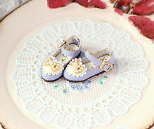 Handmade Mauve Lavender Leather/Pearl Shoes for Blythe Neo Doll