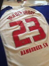 "2005-2006 Hamburg Van Der Vaart Soccer Football Jersey Mens XL 22.5"" Pit To Pit"