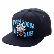 Rick And Morty Wubba Officially Licensed Snaback Hat