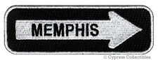 ONE-WAY SIGN PATCH MEMPHIS TENNESSEE EMBROIDERED iron-on TRAVEL EMBLEM APPLIQUE
