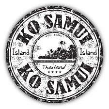 """Ko Samui Thailand Grunge Travel Stamp Car Bumper Sticker Decal 5"""" x 5"""""""
