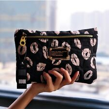 Marc by Marc Jacobs nylon Black & Milky Lips casual clutch cosmetic bag handbag