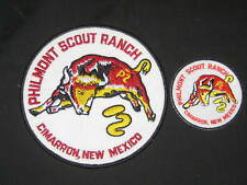 Philmont Scout Ranch Bull Jacket and Pocket Patches, felt background  c38