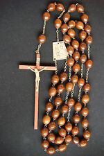 GIANT BIG BEADS AND CROSS LOURDES VINTAGE BEAUTIFUL FRANCE LARGE WALL ROSARY