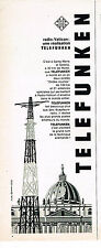 PUBLICITE  1966   TELEFUNKEN   radio VATICAN