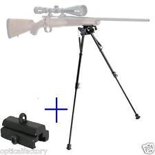 "12 levels 13""-23"" Long Hunting Rifle Bipod Mount folding Picatinny rail Foregrip"