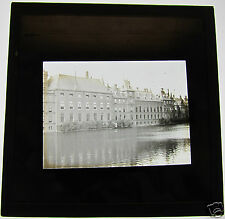 Glass Magic lantern slide  HOUSES OF PARLIMENT THE HAGUE  C1910 HOLLAND