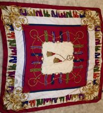 """LAURA BIAGIOTTI MOSAIC Silk Scarf 35"""" Square Made in Italy"""