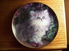 "Franklin Mint Collector Plate ""Purrfection"" Nancy Matthews"