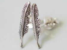 "925 Sterling Silver Earring Cartilage For Women Ear Stud Helix Feather 3/5"" 15mm"