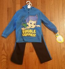 NICKELODEON BUBBLE GUPPIES 2 PIECE BOYS SWEAT SUIT BLUE SIZE 5T