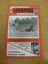 17/11/1973 Liverpool v Ipswich Town  (Light Crease)