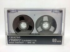 RECOTON STUDIO SHE 60 RARE REEL TO REEL BLANK AUDIO CASSETTE TAPE NEW 1984 YEAR