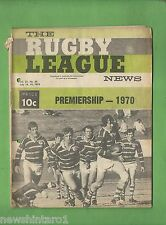 #QQ. THE RUGBY LEAGUE NEWS, 18-19th July 1970, Parramatta Cover