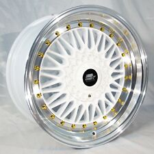 MST MT13 17x8.5 5x100/114.3 +35 White Rims Fit Tc Fr-S Jetta Golf Gti Brz Stance