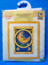 NEW Lanarte COUNTED CROSS STITCH KIT Moon 14 x 19 cm For Everyone Collection
