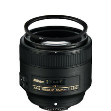 Nikon AF-S NIKKOR 85mm f/1.8G Lens w/67mm UV Filter