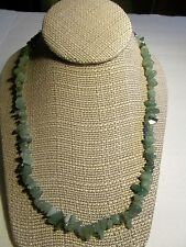 "GREEN QUARTZ JADE CHIP 20"" CHOKER NECKLACE GORGEOUS PIECE 50% 1 DAY CHARITY"