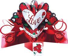 3D pop up carte lots of love anniversaire roses blanc cartes de vœux cadeau souvenir