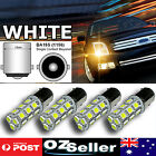 4x 1156 BA15S Car White Globe 18 LED Brake Reverse Turn Stop Tail Light Bulb 12V
