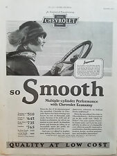 1926 Chevrolet  Motor Car Co Woman Driving Multiple Cylinder Performance Ad