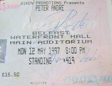 Hand Signed Concert Ticket by Peter J Andre - Belfast
