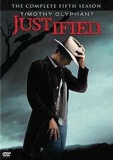 Justified: The Complete Fifth 5 5th Season (DVD, 2014, 3-Disc Set) NEW