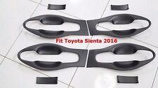 MATT BLACK BOWL HANDLE INSERT COVER TRIM FOR TOYOTA SIENTA 2016 SET OF8