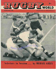 FEBRUARY 1962 RUGBY WORLD MAGAZINE INCLUDING KEN SCOTLAND AT SCHOOL ARTICLE