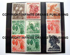 Cacao / Chocolate / Cocoa stamps collection of Papua New Guinea PNG