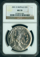 2001 D Buffalo Commemorative Silver Dollar Coin $1 NGC MS 70 MS70 PERFECT