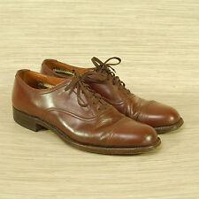 Crockett & Jones Cap Toe Oxfords Men's Size 26.5 CM US 9.5 Brown Leather Shoes