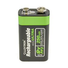 9V PP3 250mAh NiMH Rechargeable Accu Ultra Batteries Up To 1000 Charges B018
