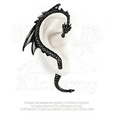 E274B Black Dragon's Lure Ear Wrap/Earing -Gothic Right Ear -Fine English Pewter