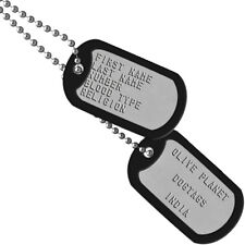 Set Of 2 Personalised Dog Tags - MATTE