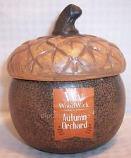 WoodWick 4 oz Acorn Candle Crackles as it burns Autumn Orchard *READ* x1
