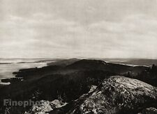1924 Original SCANDINAVIA Photo Gravure Finland Koli Forest Mountain Landscape