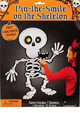 Pin the Smile on the Skeleton Halloween Party Game Kids Adults Family 12 Player