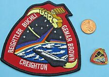 NASA enamel PIN & PATCH PAIR vtg Space Shuttle Discovery - UARS STS-48