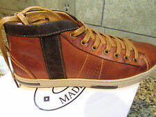 NEW STEVE MADDEN INFORMER COGNAC LEATHER LACE UP SHOES MENS 11 FREE SHIP